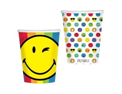 Ποτήρια χάρτινα 250ml Smileyworld /8 τεμ