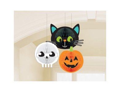 Κρεμαστά Διακοσμητικά Χάρτινα Halloween Friends / 3 τεμ