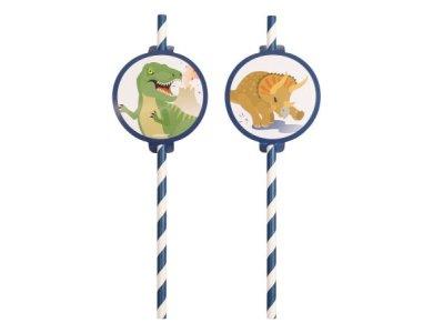 Καλαμάκια Χάρτινα Happy Dinosaur  / 8 τεμ