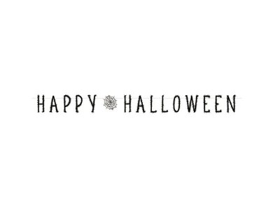 Γιρλάντα γράμματα Happy Halloween
