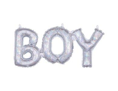 Μπαλόνι Φοιλ Γράμματα Boy Holographic