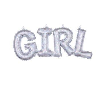 Μπαλόνι Φοιλ Γράμματα Girl Holographic