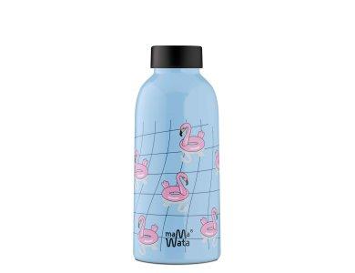 Mama Wata. Ανοξείδωτο μπουκάλι - θερμός Flamingos (470ml)