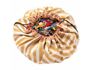 PLAY&GO. Στρώμα παιχνιδιού - τσάντα 2 σε 1. Stripes Mustard