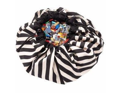 PLAY&GO. Στρώμα παιχνιδιού - τσάντα 2 σε 1. Stripes Black