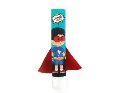 Λαμπάδα Σούπερ ήρωας με μπλε ρούχα