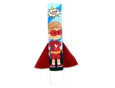 Λαμπάδα Σούπερ ήρωας με κόκκινα ρούχα